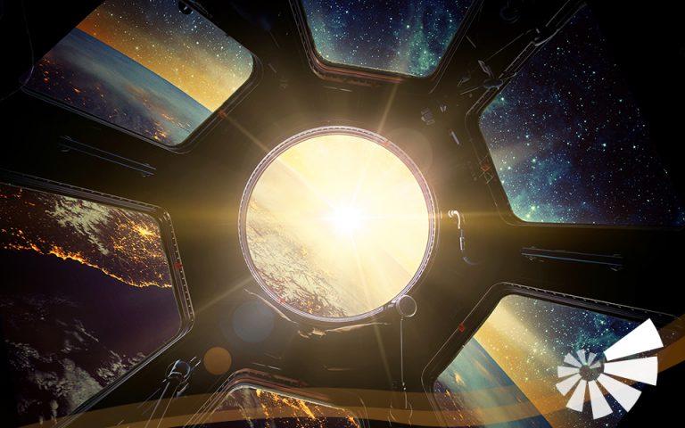 Foto aus dem Weltraum