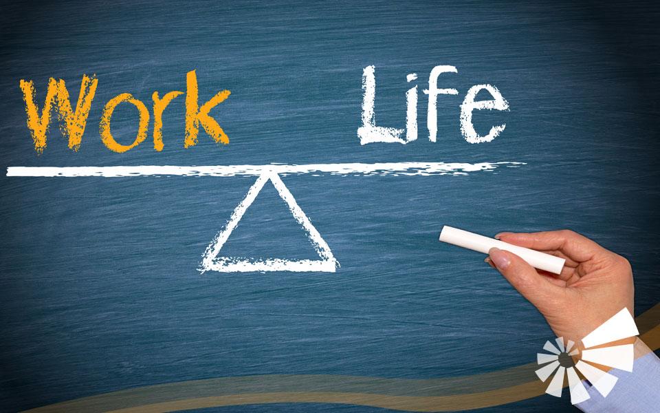 Auf Tafel geschrieben: Work - Life