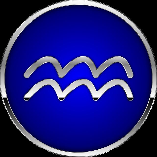 Astrologisches Zeichen für Wassermann