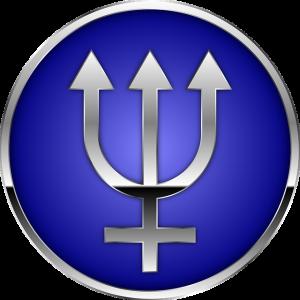 Astrologisches Zeichen für Neptun